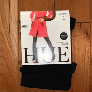 HUE Accessories - BNWT Hue Control Top Ultimate Opaque Black Tights